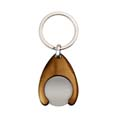 porte cles jeton at20fm personnalise marron  5
