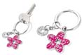 porte cles personnalise happy flower rose