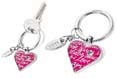 porte cles personnalise lovely heart rose
